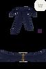 royal navy plunge balcony bikini top