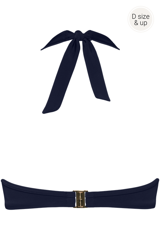royal navy plunge balconette bikini top