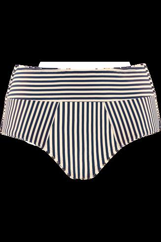 holi vintage highwaist bikini briefs |  blue-ecru - l