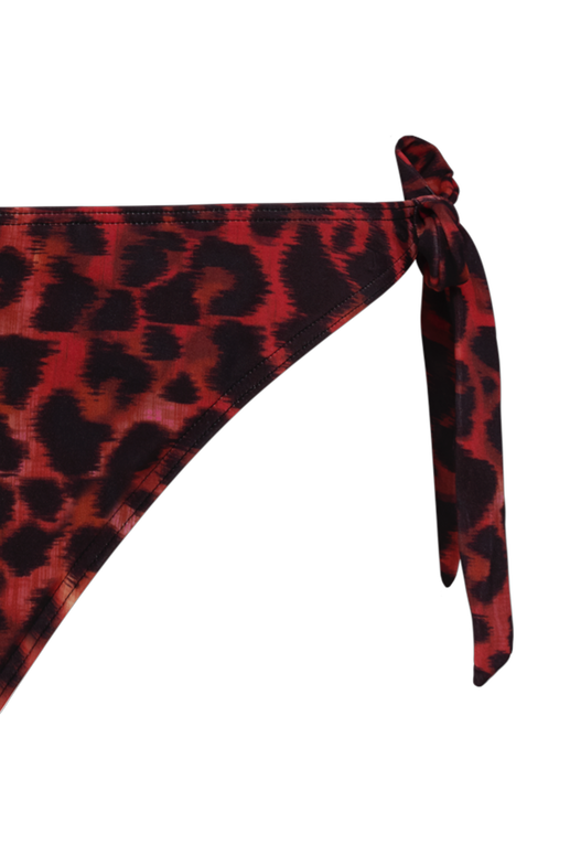 panthera tie and bow bikini briefs