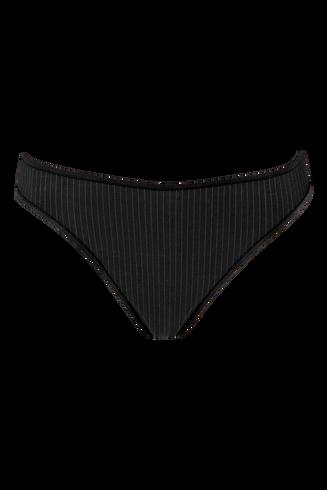 gloria 4 cm string | black pinstripe - S