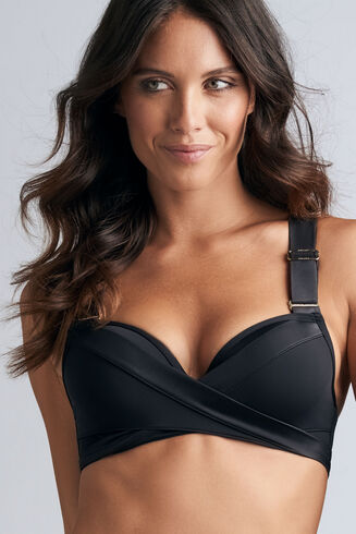 cache coeur haut de bikini push-up