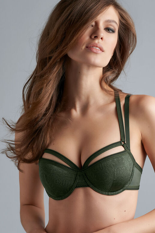 crown jewel plunge balcony bra