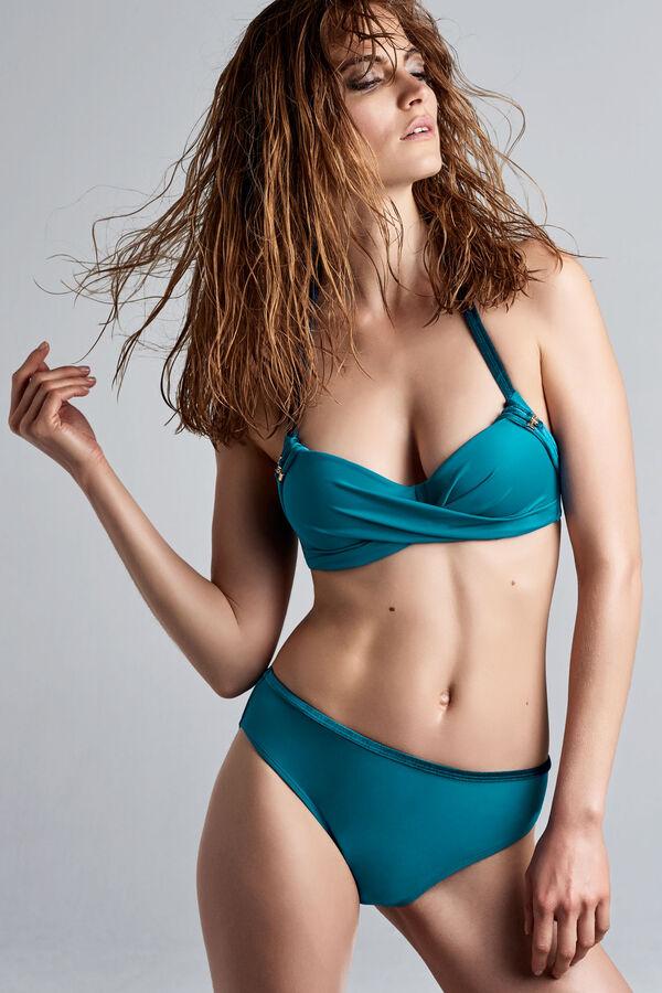 velvet kiss plunge balcony bikini top