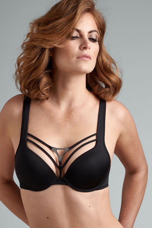 triangle push up bra