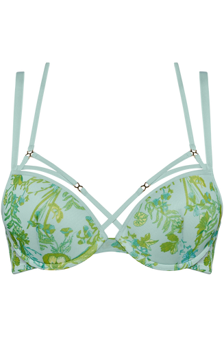 jardin des herbs soutien-gorge push up | wired padded soft green - 85D