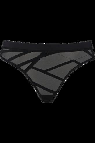 the illusionist 5 cm briefs |  transparent black - l