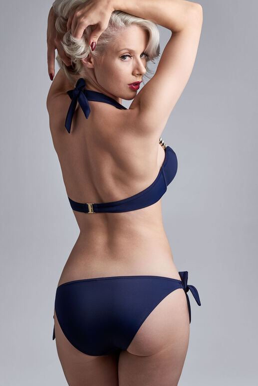 royal navy tie and bow bikini briefs