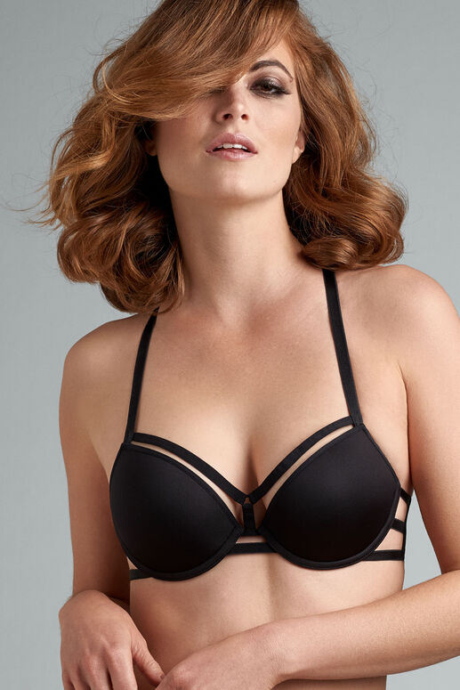 strings push up bra