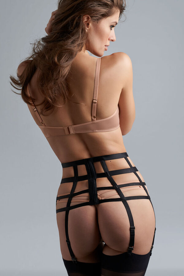 space odyssey balcony bra + 12cm brazilian shorts glossy camel
