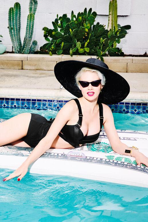 cache coeur plunge balcony bikini top