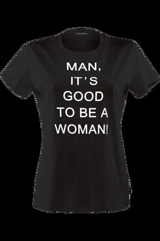 shirts t-shirt top | black and white - L