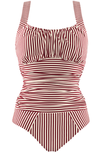 holi vintage unwired padded bathing suit | unwired padded red-ecru - L