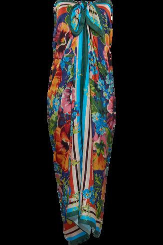 jardin des fleurs foulard de plage | floral - One Size