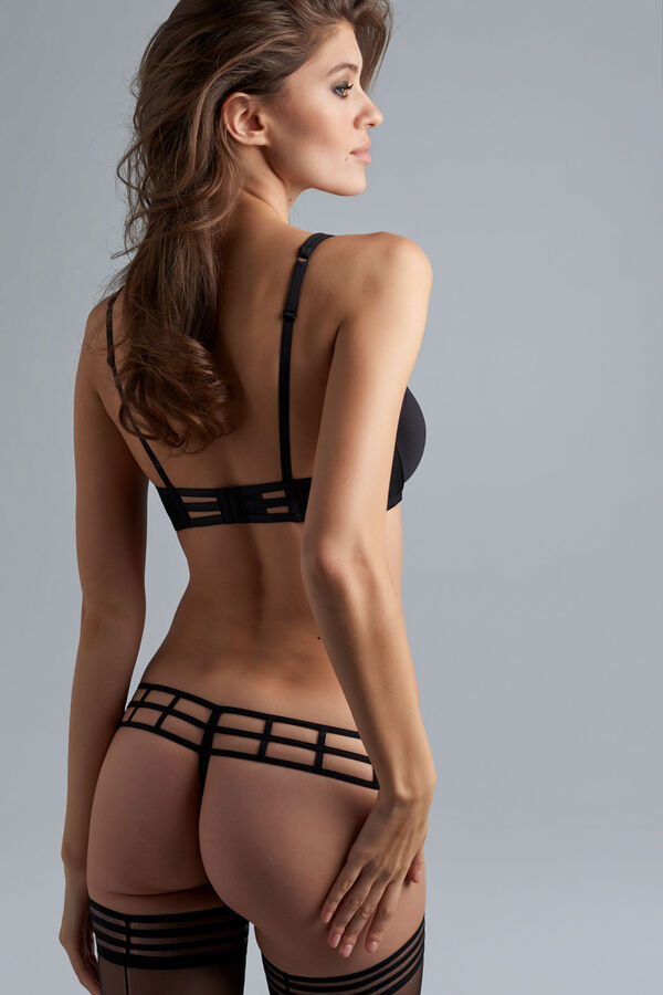 leading strings plunge balcony bra + 4cm thong