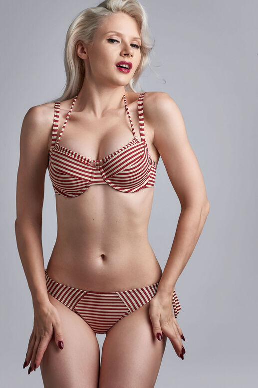 holi vintage push up bikini top