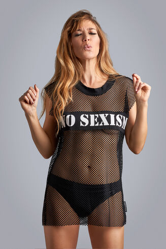 Women's Day tshirt top  black  L/XL