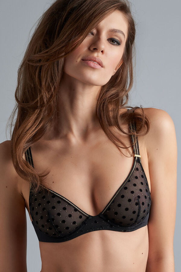 petit point unpadded plunge bra