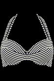 holi vintage blue ecru push up bikini top