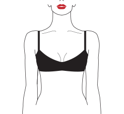 wired padded demi bra