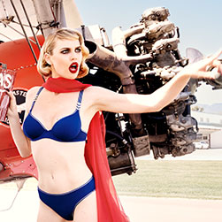 SS20 Sky High blue and silver lingerie collection