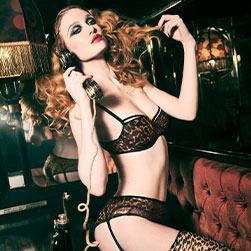 FW20 Peekaboo leopard print lingerie collection