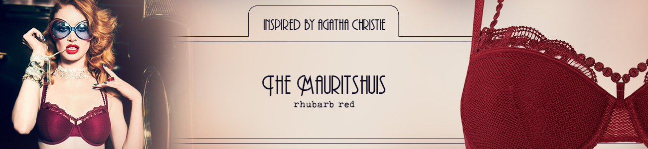FW20 style collection The Mauritshuis rhubarb red header banner