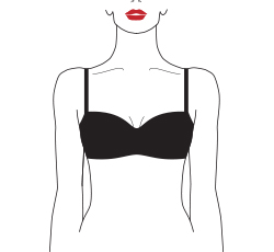 wired padded balcony bra