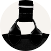 Signature Gloria Black Pinstripe bra