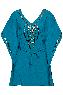 holi glamour dusk blue kaftan