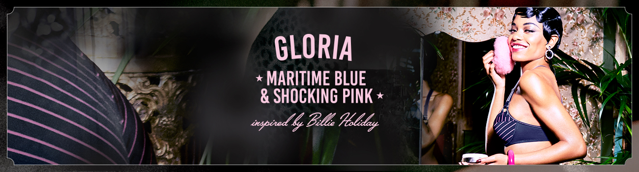 FW19 collection Gloria Maritime Blue and Shocking Pink header banner