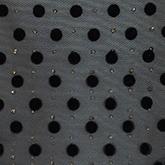Flockprint mit schwarzen Polka Dots