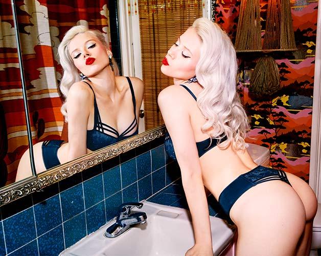 style lingerie collection dame de paris bijou blue SS19