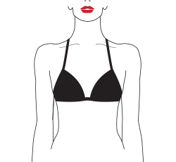 wired padded triangle bra