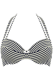 holi vintage blue ecru push up bikini top