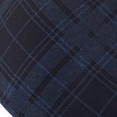 black & blue tartan print