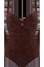 Puritsu brown plunge balcony bathingsuit