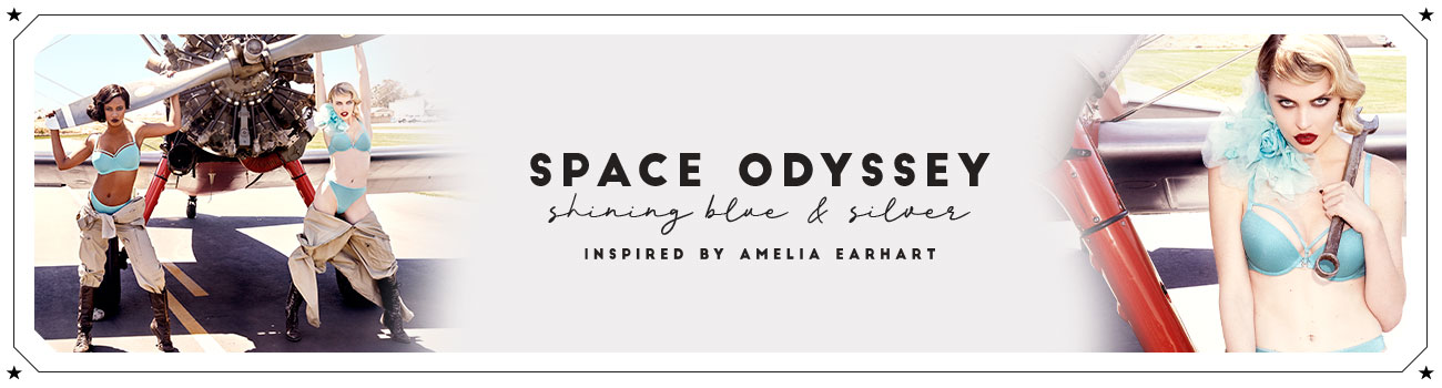SS20 collection Space Odyssey shining blue and silver header banner
