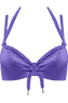 Holi Glamour Purple push up bikini top