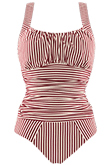 holi vintage red ecru unwired bathing suit