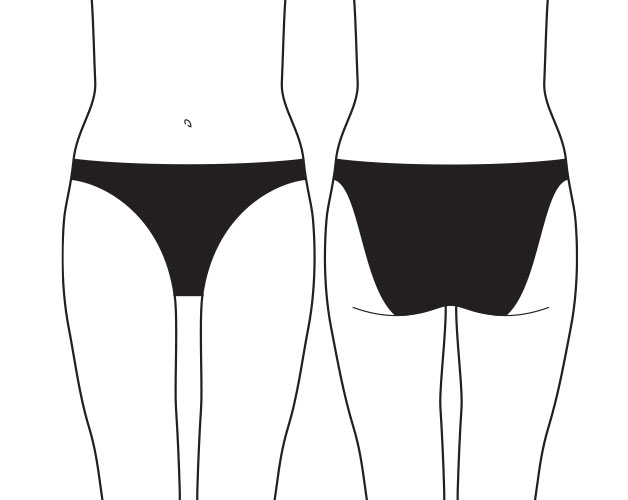 what are 2 cm bikini briefs