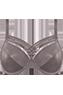 Dame de Paris plum truffle plunge bra
