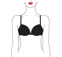 wired padded plunge bra