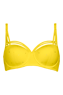 dame de paris buttercup yellow wired padded balcony bra 17720