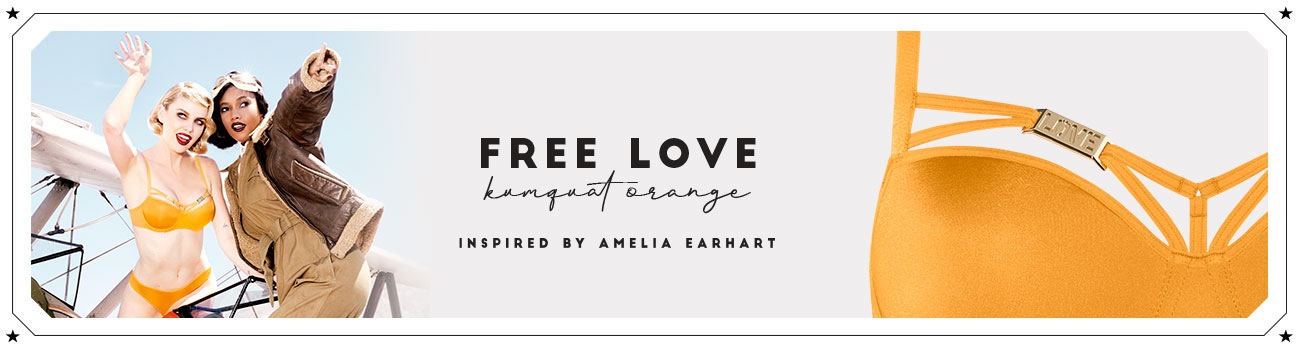 SS20 collection Free Love kumquat orange header banner