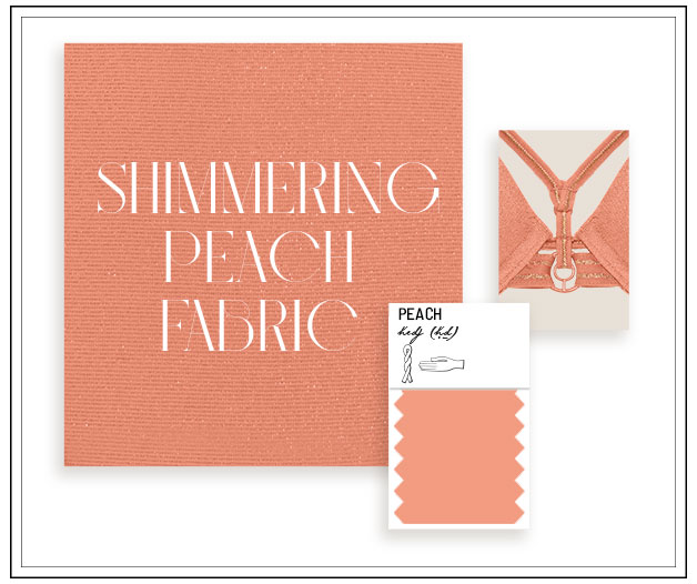 lingerie collection SO shimmering peach SS21