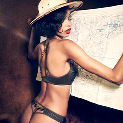 FW20 Gloria tweed print lingerie collection