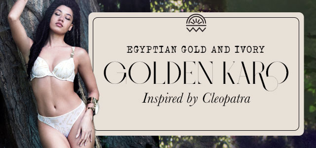 S21 collection Golden Karo egyptian gold and ivory header banner mobile
