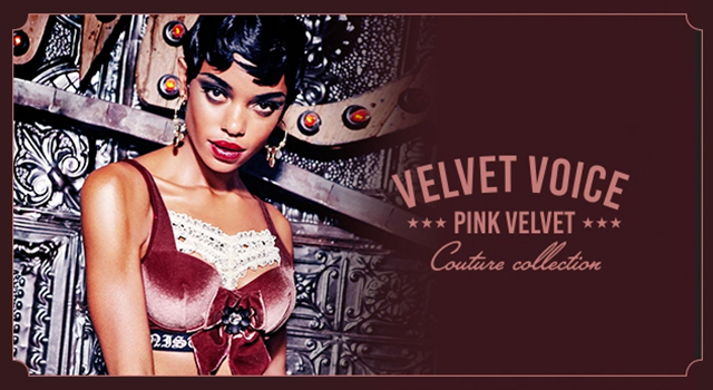 FW19 collection Couture Velvet Voice Pink Velvet header banner