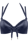 Holi Glamour navy push up bikini top
